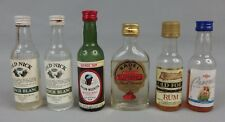anciennes mignonnettes old mini bottle Rhum Badel Negrita Punch Old Nick lot n11