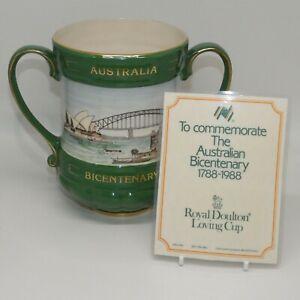 Royal Doulton Ltd Ed Australia Bicentenary The First Fleet 1788 1988 Loving Cup