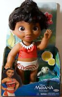 """DISNEY 12"""" YOUNG TODDLER MOANA DOLL BATH TIME ADVENTURE WITH TURTLE FRIEND"""