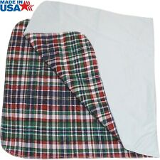 36 x 72 inches Big Size Washable Bed Pad / 3XL Incontinence Plaid Underpad