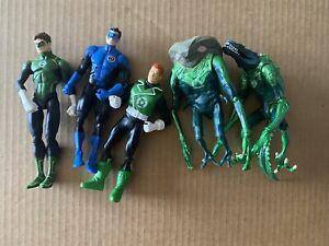 """GREEN LANTERN Kyle Rayner Guy Gardner Hal Jordan 6"""" DC ACTION FIGURE LOT"""