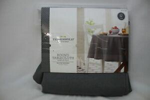 "Threshold Round Tablecloth 70"" Grey"