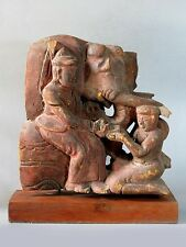 1# Beautiful & Rare Antique Burmese Teak Wood Cave Cheap Don't Miss