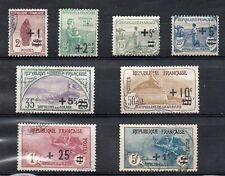 Timbres de France 1922  série N° 162 à 169 oblitérés
