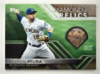 2020 Topps Opening Day Diamond Relics #DR-KH Keston Hiura - Milwaukee Brewers