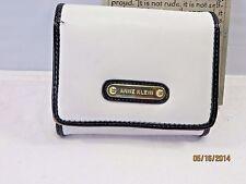Anne Klein White Faux Leather Bi-fold Wallet  NWOT