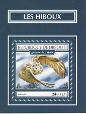 Djibouti 7521 - 2017  BIRDS -  OWLS imperf deluxe sheet unmounted mint