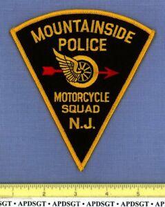 MOUNTAINSIDE MOTORCYCLE NEW JERSEY Police Patch TRAFFIC MOTOR BIKE WINGED WHEEL