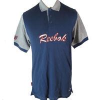 Reebok Kids Polo Shirt Blue Grey Childrens Short Sleeve Sports Top Size XLB