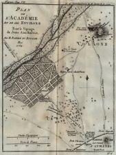 ACCADEMIA PLATONICA. Plan de l'Académie. hippeios colonus. Atene. bocage 1790 MAPPA