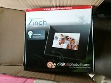"Digital Photo Frame 7""  Widescreen Format Remote Plays Music NEW"