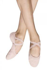 Bloch SO284L Performa pink canvas split sole ballet shoes.