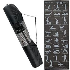 6mm Thick Yoga Exercise Mats Non Slip Gym Fitness Pilates Physio Foam Camping