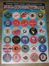 NHL HOCKEY Super Cardboard Caps (POGS) 26 Team Logo Collection, Great Kids Gift