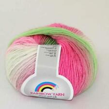 Sale 1ball Cashmere Wool Rainbow Wrap Shawl Sweater DIY Hand Kniting Yarn 06