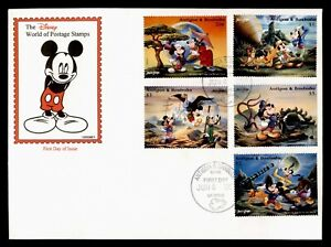 DR WHO 1996 ANTIGUA & BARBUDA FDC DISNEY WORLD OF POSTAGE STAMPS C233464