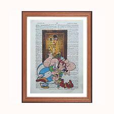 ASTERIX e Obelix VS Gustav Klimt-Il bacio-DIZIONARIO ART PRINT Gift