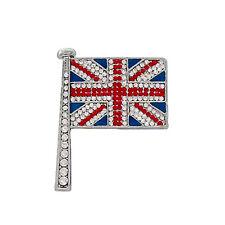 BUTLER E WILSON piccolo cristallo smalto Bandiera Union Jack SPILLA HARRY Meghan