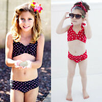 Girls Baby Tankini Swimsuit Bikini Swimwear 2-8Y Kids Swimming Costume Beachwear