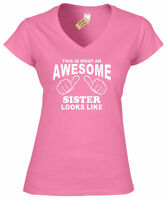 Awesome SISTER T Shirt sisters present ladies top birthday gift V Neck top