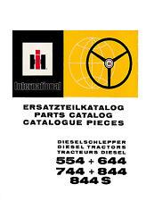 Ersatzteilliste für IHC Schlepper 554 + 644 + 744 + 844 + 844S