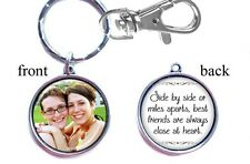 Personalized Photo Keychain Double-Sided (2 sides) Gifts Best Friends Friendship