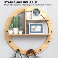 Round/Square Floating Shelf Wall Mounted Display Rack Home Decor Storage Rack