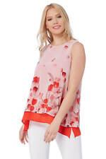 Roman Originals Women's Pink Tulip Double Layer Top Sizes 10-20