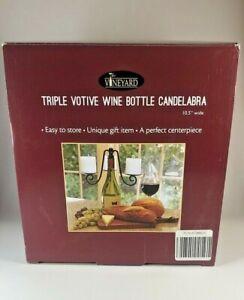 Candelabra Wine Bottle Topper ~The Vineyard Triple Votive Wine Bottle Candelabra