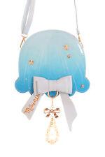 lb-95-2 H. bleu Méduse Méduse perles ruban pastel gothique lolita SAC KAWAII