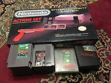 VINTAGE Nintendo NES Action Set:Original Box/paperwork,Console, 22 Games