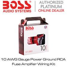 Boss Audio KIT-Z - 10 AWG Gauge Power Ground RCA Fuse Amplifier Wiring Kit