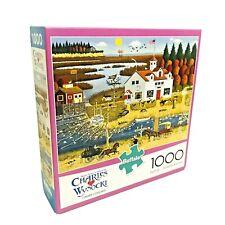 Charles Wysocki 1000 Piece Jigsaw Puzzle Carver Coggins by Buffalo COMPLETE