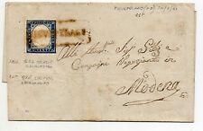 ANTICHI STATI 1861 SARDEGNA 20 C. CELESTE GRIGIASTRO PIEVEPELAGO 24/7 D/2171