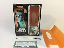 "custom Vintage Star wars 12"" greedo box + inserts"