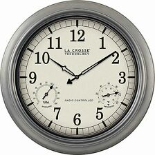 "WT-3181P La Crosse Technology 18"" Indoor / Outdoor Atomic Wall Clock Refurbished"