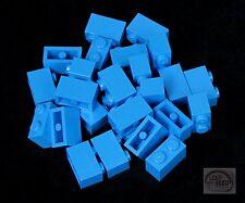 LEGO - 3-Buck Bag - 20 x Bricks - 1x2 - Cool Blue - (Plate, Tile)
