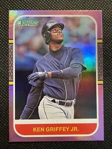 2021 Donruss Ken Griffey Jr Pink Variation #235 Seattle Mariners