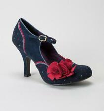 Ruby Shoo Mary Janes Floral Heels for Women