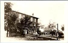 RPPC BROOKLYN,  MI Michigan  WALKER TAVERN  c1930s-40s  Coller Photo Postcard