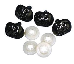 Plastik-Tiernasen, 12mm, 15mm, 20mm SB-Btl je 4Stück, schwarz - Rayher Hobby