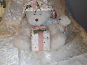 Plush Teddy Bear With Ring Box White