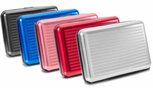 VALLET® Kreditkartenetui Geschenk Aluminium bis 12 Karten RFID + NFC Schutz