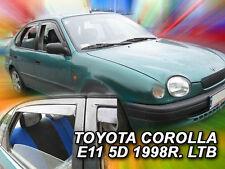 DTO29614 TOYOTA COROLLA E11 LIFTBACK 1997-2001 WIND DEFLECTORS 4pc HEKO TINTED