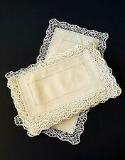 9 Piece Vintage Reticella Lace Placemat & Runner Set - Pristine!