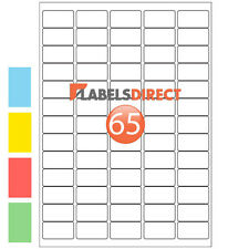 Premium Address Labels A4 65 per Sheet Sticky Self Adhesive Inkjet Laser Printer