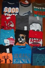 NWT Boys 5-6 Huge Crazy 8 TCP Jumping Beans Lot of 12 Short & Long Sleeve Tops