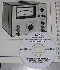 FLUKE 845A 845AB Operating & Service Manual (COMPLETE!)