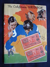 1934 ST. MARY'S AT CALIFORNIA 1934 COLLEGE FOOTBALL PROGRAM & 2 TICKETS