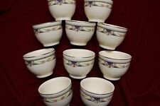 10- SMALL POTTERY BOWLS OR ORIENTAL CUPS, HAND PAINTED, OLD COLLECTABLES